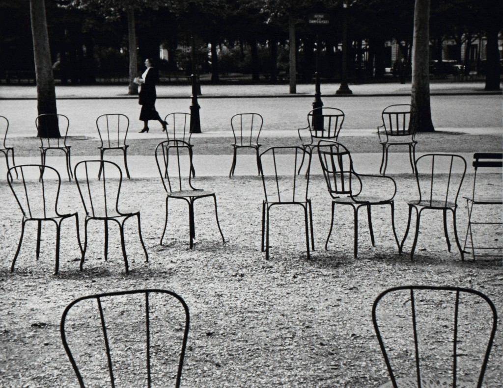 Silver print Chairs of Paris by Andre Kertesz