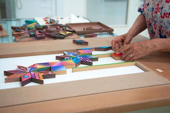 assembly of printmaking blocks