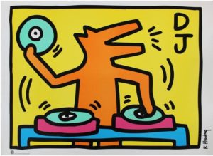 a lithograph by Keith Haring